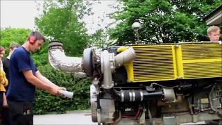 29L Continental Diesel Tank Engine Startup & Rev