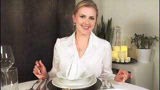 Dinner Etiquette 🍽️ ASMR • Soft Spoken • Gentle Proper Eating • Crinkly Shirt
