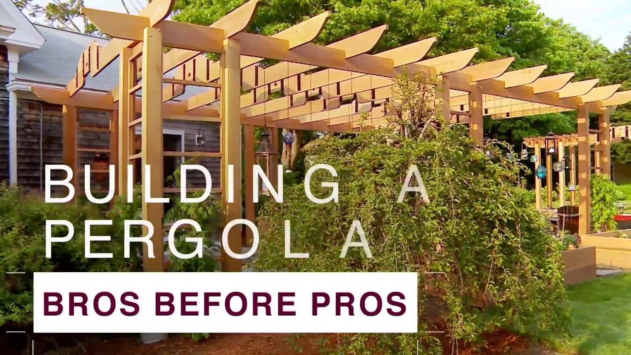 How to Build a Pergola - DIY Network - YouTube
