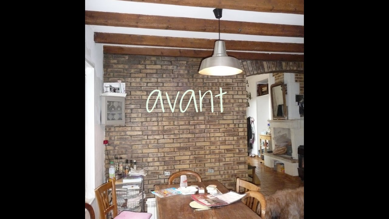 Cuisine Mur Brique Rouge | Fond De Hotte Effet Brique Blanche Verre ...