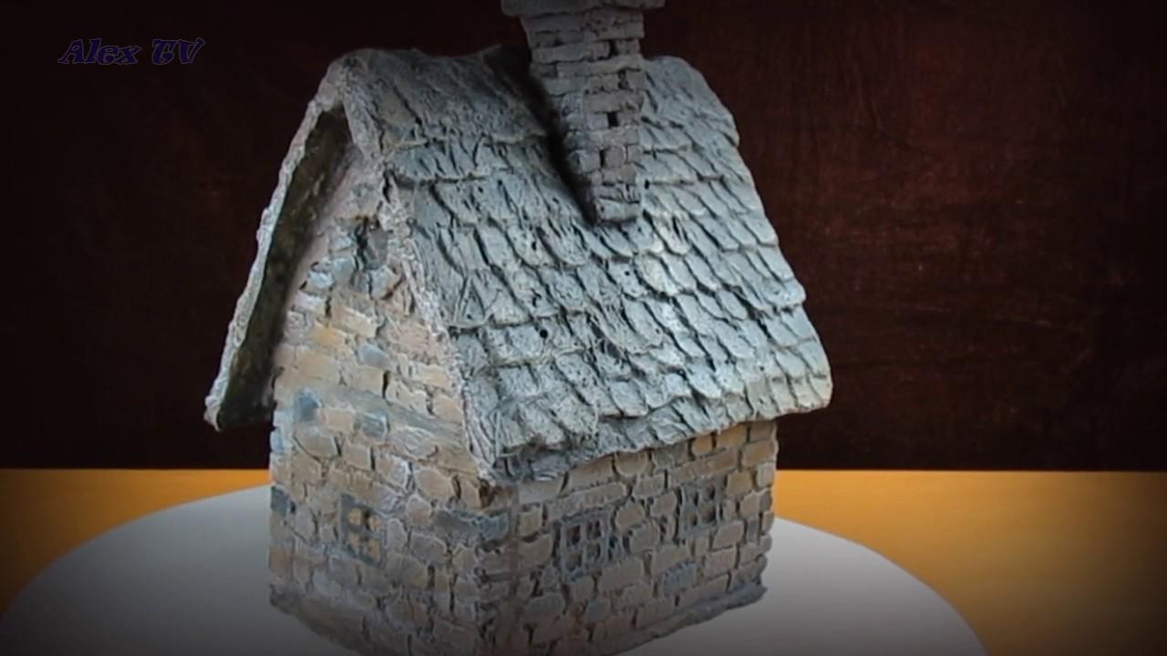dekoration f r garten aus beton mini haus 3 youtube. Black Bedroom Furniture Sets. Home Design Ideas