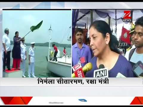 Defence Minister Nirmala Sitharaman flags off all-women crew of Navika Sagar Parikrama
