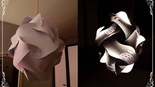 DIY Anime Paper Lampshade - 16 piece instruction