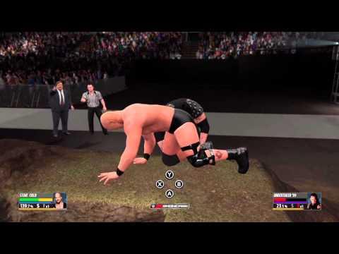 WWE 2K16 - Stone Cold Steve Austin vs. The Undertaker Buried Alive Match (Showcase Mode)