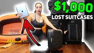 WE BOUGHT $1000 LOST LUGGAGE AT AN AUCTION AND FOUND THIS!!! (Buying Lost Luggage Mystery Auction)