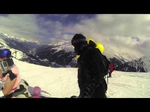 Super mario kart snowboarding at st anton, austria!