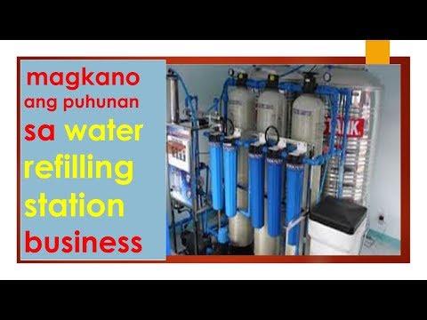 Magkano ang puhunan sa water refilling station business
