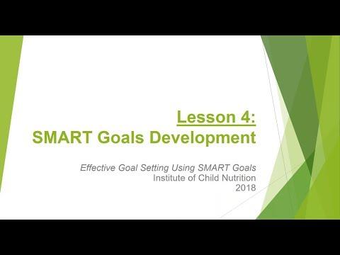 Effective Goal Setting Using SMART Goals - Lesson 4