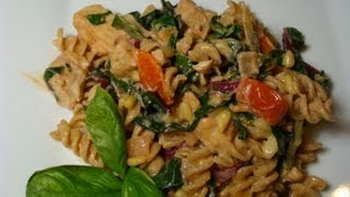 Creamy Chicken Rotini With Swiss Chard - Pasta With Chicken, Swiss Chard And Pine Nuts
