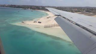 Landing in Aruba Airport Int´l Queen Beatrix Oranjestad Aserca Airlines