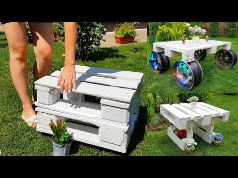 6 DIY Pallet Table How to Make  Step by Step Creative Design Idea 2021 Part.1