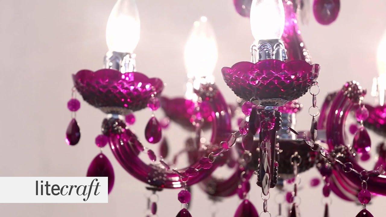 Marie Therese 5 Light Plum Chandelier | Litecraft - Lighting Your Home & Marie Therese 5 Light Plum Chandelier | Litecraft - Lighting Your ... azcodes.com