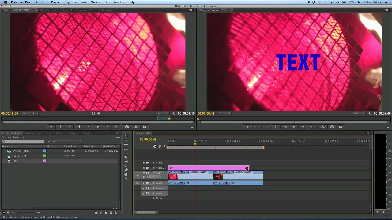 Adobe premiere how to insert text tutorial youtube youtube premium ccuart Choice Image