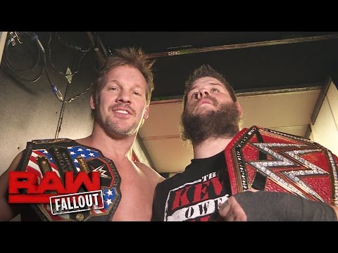 Chris Jericho celebrates his U.S. Title win with his best friend: Raw Fallout, Jan. 9, 2017