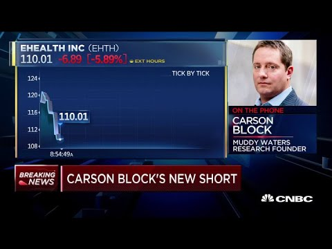 Carson Block Takes Short Position In Online Health Insurance Marketplace EHealth