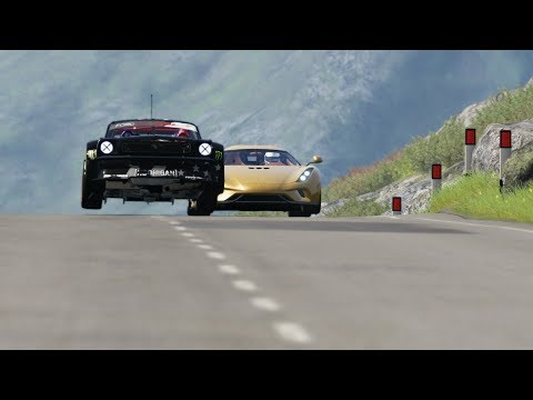 "Koenigsegg Regera Vs ""The Crazy"" 1965 Ford Mustang Hoonicorn RTR"
