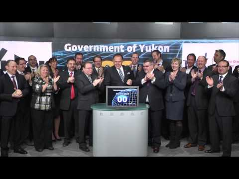 Premier of Yukon Darrell Pasloski opens Toronto Stock Exchange, February 4, 2014