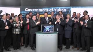 Premier of Yukon Darrell Pasloski opens Toronto Stock Exchange, February 4, 2014