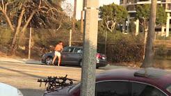 Guy looses it on PCP- Marina Del Rey - 9.10.11