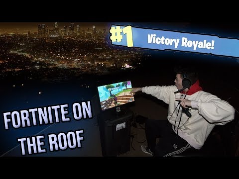 I Won a Game Of FORTNITE ON THE ROOF Of My MANSION!!