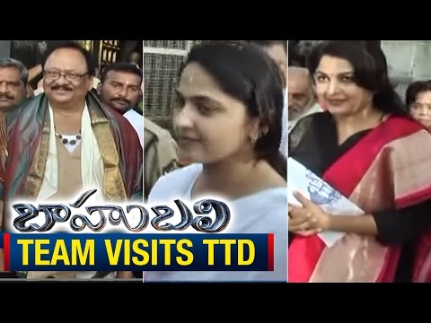 Bahubali Movie Team Visits Tirumala Temple | ExpressTV