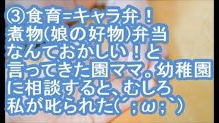 【1/3:キチガイ被害】食育=キャラ弁!煮物娘の好物弁当なんておかしい...