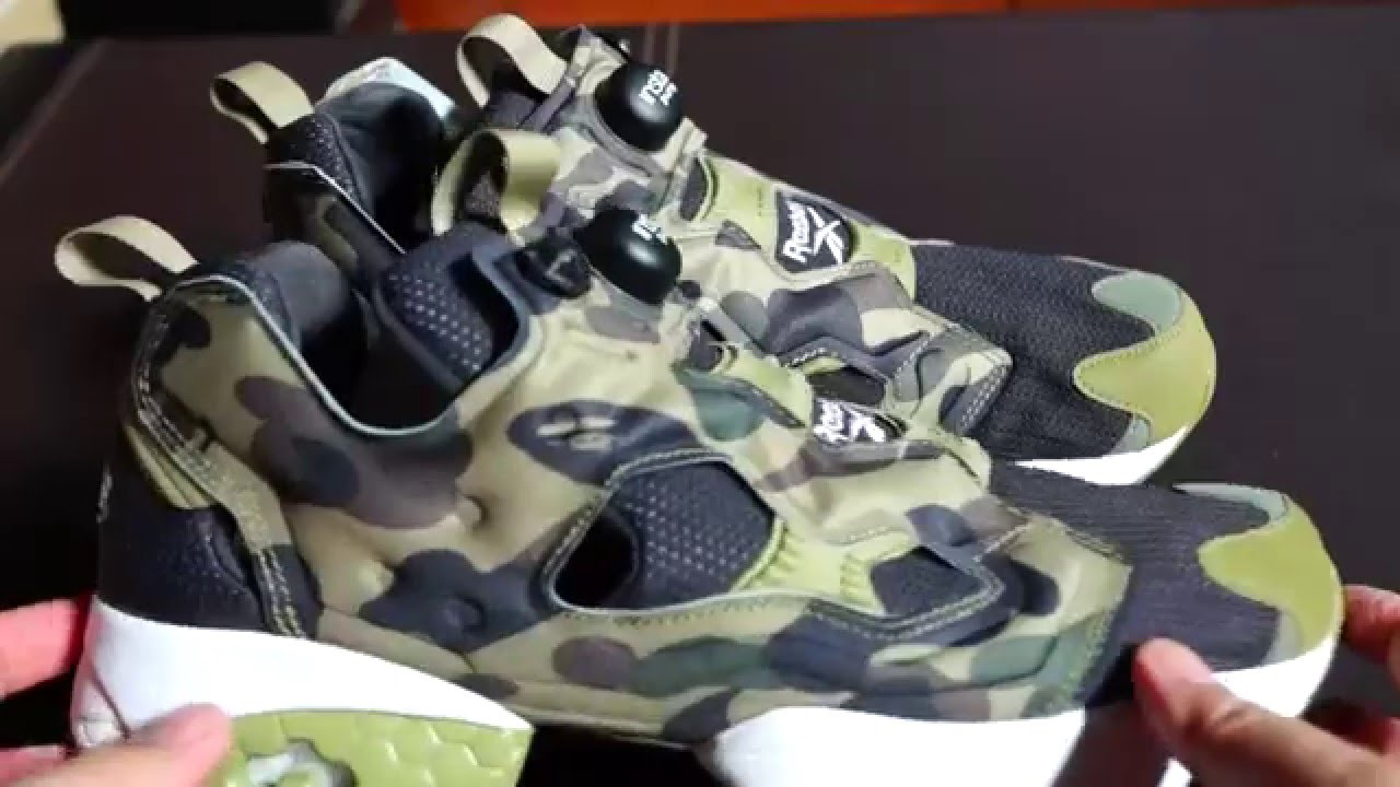 bb4925dad7543e UNBOXING REEBOK x BATHING APE (BAPE) x MITA SNEAKERS INSTAPUMP FURY OG  SHOES   IN-DEPTH REVIEW! - YouTube