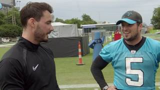 Swapping Sports: Panthers specialists compete with professional soccer player