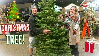 GETTING OUR CHRISTMAS TREE!! Vlogmas Day 3