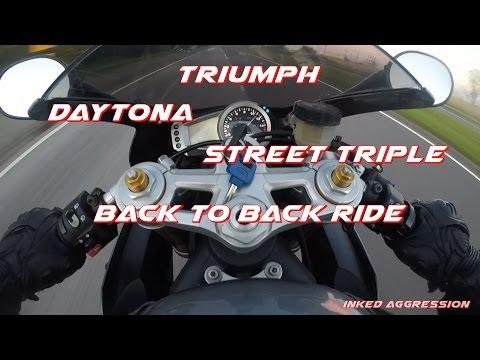 Riding A Triumph Daytona And Street Triple Back To Back