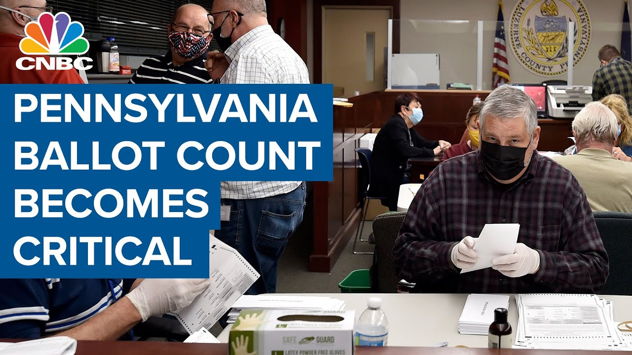 Pennsylvania ballot count becomes critical to the 2020 presidential election
