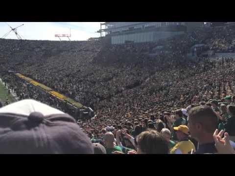Notre Dame's football team runsonto the field against Navy October 10, 2015