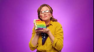 Rhiannon Meades Funny cake eating ident for Freesat