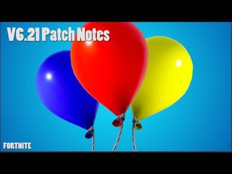 V6.21 Patch Notes! (FORTNITE)