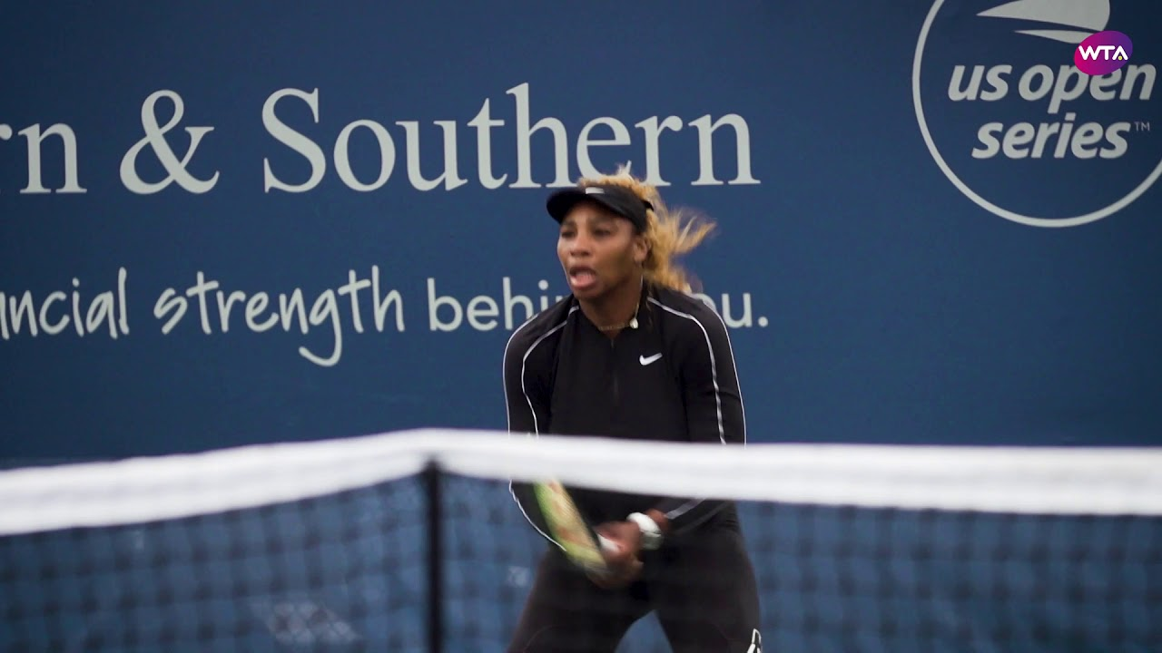 Serena practices ahead of 2019 Cincinnati opener