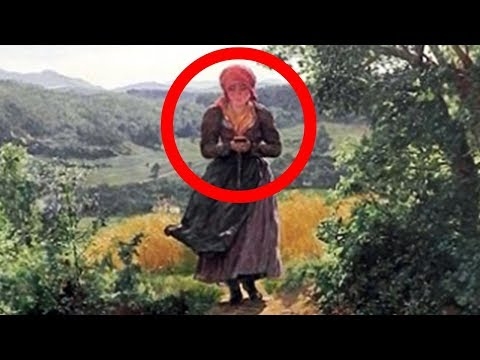 Mysterious Time Traveler Holding iPhone In 1860's Painting