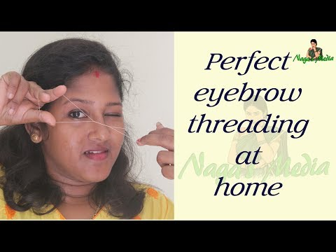 How to eyebrow threading at home in tamil - Self eyebrow threading in tamil