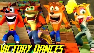Evolution of Crash Bandicoot Victory Dances (1996-2019)