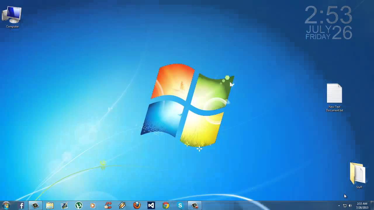 This Is My Windows 7 Homescreen