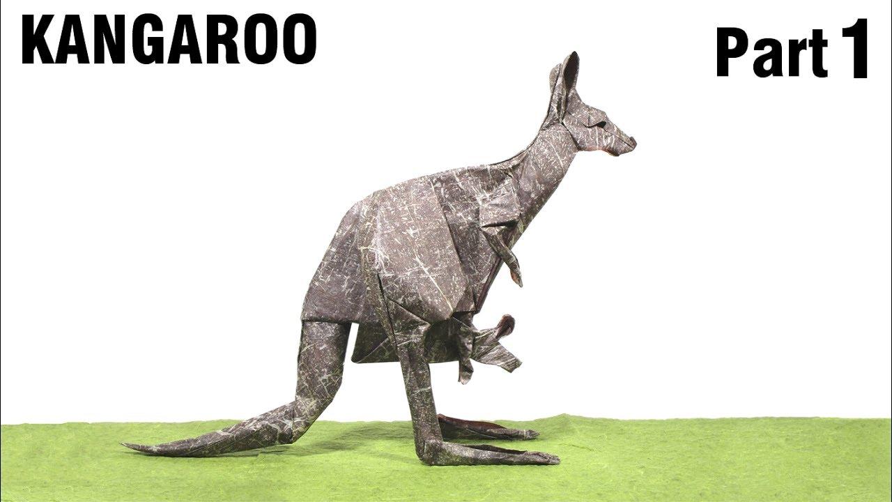 origami kangaroo tutorial gen hagiwara part 1 ��� �����