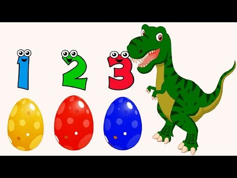 Learn Numbers Counting 1-10 for Toddlers Kids Children with  Dinosaurs