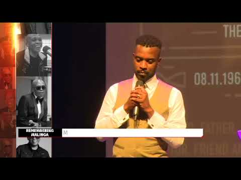 #RobbieMalingaMemorial Singer Sifiso Fakude performing his song