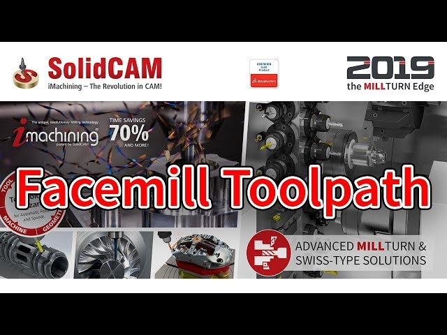 SolidCAM - Facemill Toolpath