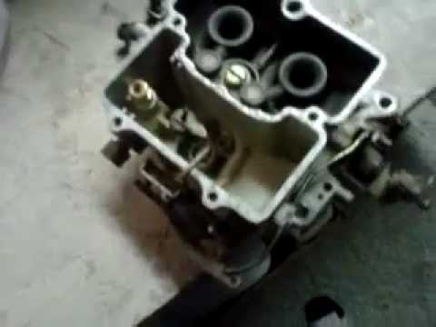 how to adjust motorcraft 2 barrel carburetor - YouTube