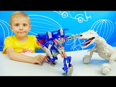 Трансформер Автобот ОПТИМУС ПРАЙМ и мальчик Даник - Обзор Игрушки. Transformer Optimus Prime