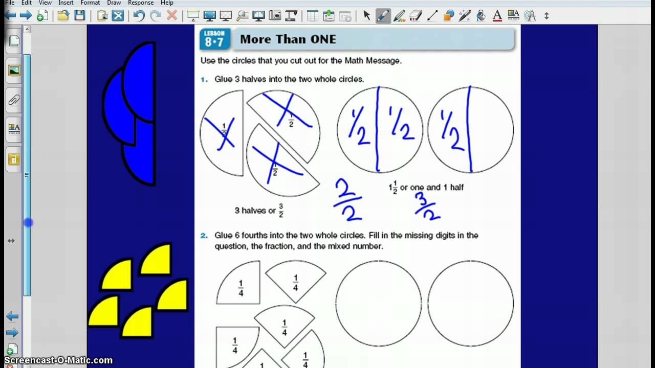 Fractions Greater than One YouTube – Fractions Greater Than One Worksheets