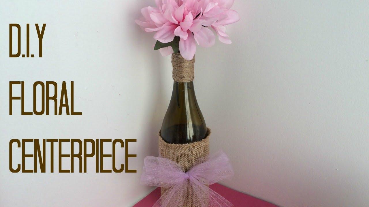 Diy wine bottle centerpiece youtube diy wine bottle centerpiece reviewsmspy
