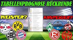 TABELLENPROGNOSE RÜCKRUNDE 1.Bundesliga 2020! Wer wird Meister? Wer steigt ab? Wer ist international