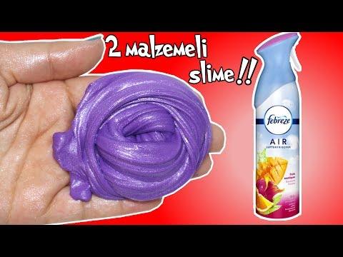 İki Malzeme İle Muhteşem Slime Yaptım!! Febreze Oda Spreyi İle Slime Deneyi!!  Bidünya Oyuncak