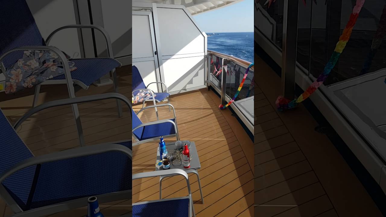 Carnival vista premium balcony youtube for Pic of balcony